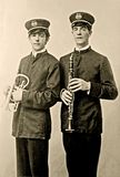 Foto dos membros do grupo do vintage Foto de Stock