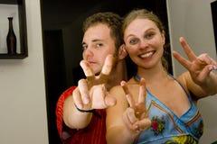 Foto dos pares no amor Fotografia de Stock Royalty Free