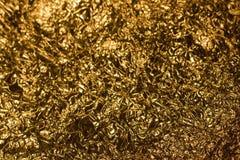 Foto dourada especial do fundo da folha Fotografia de Stock