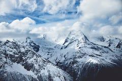 Foto dramática das montanhas imagem de stock