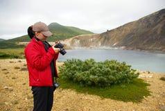 foto dziewczyny golovnina vulcan Fotografia Stock
