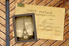 Foto e cartão do vintage imagem de stock