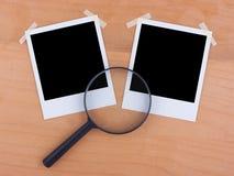 Foto e lente in bianco Fotografia Stock