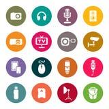 Foto e outros ícones técnicos dos dispositivos ajustados Imagem de Stock