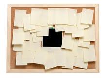Foto e papéis de nota imediatos em branco imagens de stock royalty free