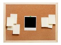 Foto e papéis de nota imediatos em branco fotos de stock