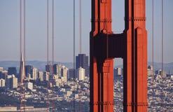 Foto edificio di Transamerica e di golden gate bridge Fotografie Stock Libere da Diritti