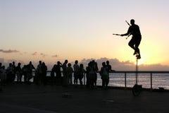Por do sol de Key West Imagem de Stock