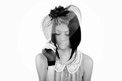 Foto einer Dame in einem Hut Lizenzfreies Stockfoto