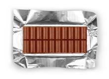 Foto einer großen Stange der Milchschokolade Lizenzfreie Stockfotografie