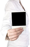 Foto in einer Hand Stockbilder