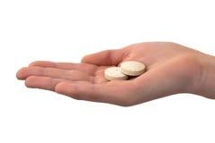 Foto einer Hand mit einer Tablettenfaser Stockfotos