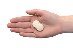 Foto einer Hand mit einer Tablettenfaserspitze Stockbild