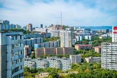 Foto einer Stadtlandschaft lizenzfreie stockfotos
