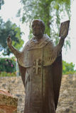 Foto einer Statue von Nicholas The Wonderworker Stockfoto