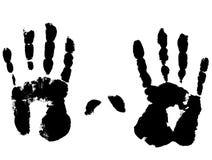 Foto eines links und der rechten Hand. stock abbildung