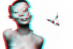 Foto eines Modells des jungen Mädchens mit einem afrikanischen Blick Lizenzfreies Stockbild