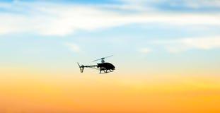 Foto eines RC-Hubschraubers stockbilder