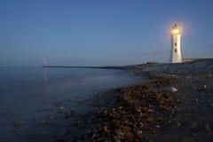 Foto eines Scituate Leuchtturmes in Neu-England Lizenzfreie Stockbilder