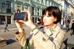 Foto eines Smartphone Samsungs Android Stockfoto