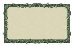 Frontera del dinero Fotos de archivo libres de regalías
