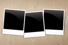 Foto em branco do frame na madeira Fotografia de Stock Royalty Free