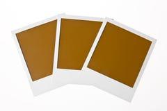 Foto em branco localizada do Polaroid com espaço do texto Fotografia de Stock Royalty Free