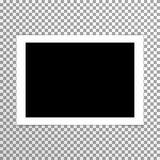 Foto en blanco llana realista con vector del marco stock de ilustración