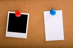 Foto en een Nota Stock Foto