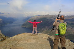 Foto en 650 metros sobre nivel del mar Roca asombrosa fotos de archivo