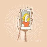 Foto en selfie 02 2-24 vector illustratie