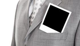 Foto en una chaqueta Imagen de archivo libre de regalías