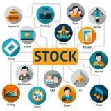 Foto en Vectorvoorraadconcept Stock Afbeelding