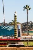 Foto-Endkamera und -Ziellinie bei Del Mar Racetrack Lizenzfreies Stockfoto