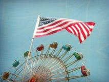 Foto envejecida y desgastada del carnaval Fotografía de archivo