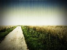 Foto envelhecida de uma estrada Imagens de Stock