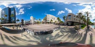 Foto esférica de Miami la Florida Lincoln Road 360 equirectangular Imagenes de archivo