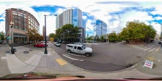foto esférica equirectangular 360 de Seattle céntrica Washington imagenes de archivo