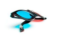 Foto estereoscopicamente de vidros 3-D Fotos de Stock