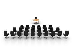 Foto estilizado de uma sala de conferências vazia Fotografia de Stock Royalty Free