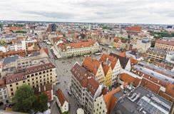 Foto estremamente grandangolare del centro di Wroclaw, Polonia Fotografie Stock Libere da Diritti