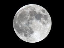 Foto extremamente detalhada da superfície lunar Imagem de Stock