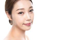 foto fêmea asiática nova da beleza do estúdio 20s - isolada Imagens de Stock