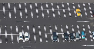 Foto för bästa sikt av parkeringsplatsen Royaltyfria Foton