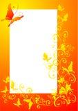 foto för blom- ram för fjäril utsmyckat royaltyfri illustrationer