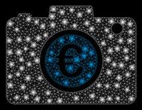 Foto för euro för signalljusingrepp 2D med signalljusfläckar royaltyfri illustrationer