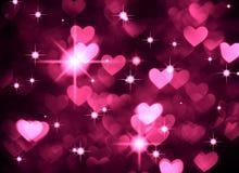 Foto för hjärtabakgrundsboke, mörk magentafärgad färg Abstrakt ferie, beröm och valentinbakgrund stock illustrationer