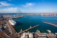 Foto för luft för hamnskeppekonomi Fotografering för Bildbyråer