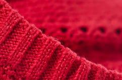 Foto för makro för ulltyg rött royaltyfri bild