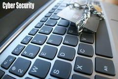 Foto för materiel för skydd för Cybersäkerhetsbedrägeri högkvalitativt Royaltyfri Foto
